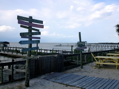 Tourist sign. Looking down the ship channel towards Galveston. ALL rights reserved. Copyrighted. NO permissions granted