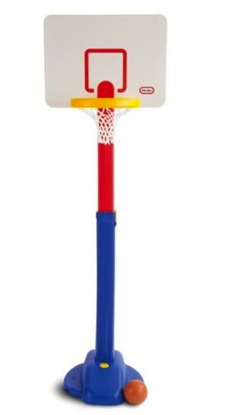 Toddler plastic basketball goal. (Littletikes.com:basketball)
