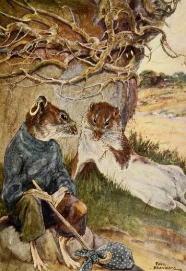 "2 well dressed rats talking. ""WInd in the Willows""1913. Graheme/Bransom, ill. /USPD: pub.date, artist life/Commons.wikimedia.org)"