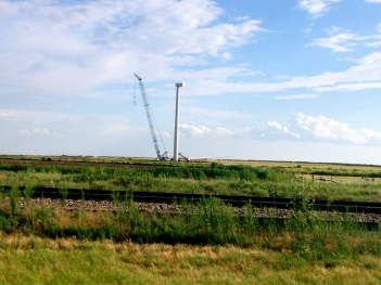 Windmill / wind turbin being built in West Texas.. ALL rights reserved. NO permissions granted. Copyrighted