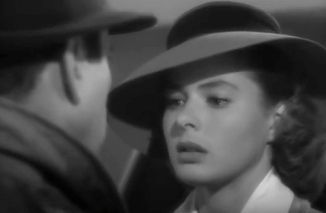Vintage movie couple in final scene of Casablanca. (you.tube screenshot)
