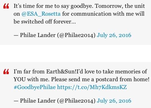 Robot tweets farewell. (ESA/TWitter/Time.com)
