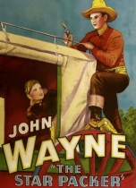 Movie poster of John Wayne on stagecoach.. (USPD: 1934 pub. date, no cr/Commons wIkimedia.org)