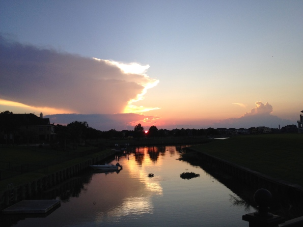 sunset over waterway. ALL rights reserved. Copyrighted. NO permissions granted