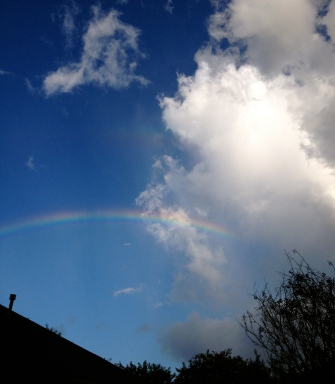 rainbow over roof ALL rights reserved. NO permissions granted. Copyrighted