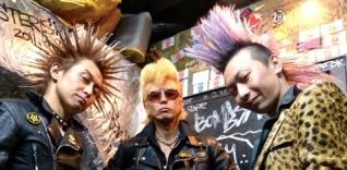 Three men in punk rocker gear..Japanese punk rockers 2012 (image by missile/Commons.wikimedia.org)