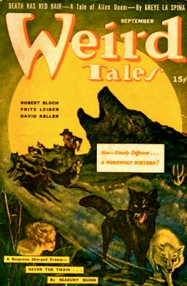 A Werewold Western. Cover: Weird Tales.(Sept-1942) USPD.-cr not renewed/ Commons.wikimedia.org)