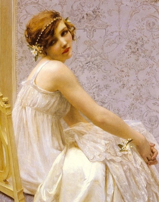 Pretty young woman seated.1924. Guillaume Seignac-1870-1924.(USPD: pub.date, artist life/Commons.wikimedia.org)