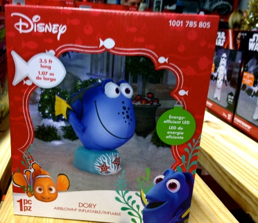 Blue Disney cartoon fish, Dory, inflatable Christmas decoration from Home Depot. ALL rights reserved. NO permissions granted. Copyrighted