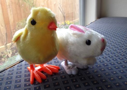 Bunny and chick Easter toys ALL rights reserved. Copyrighted. NO permissions granted