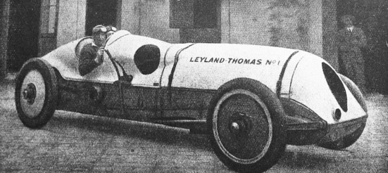 vintage race car. ca.1920 Leyland-Thomas. (USPD.pub.date/Commons.wikimedia.org)