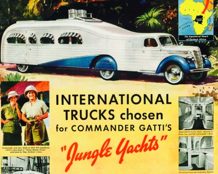 1939 International Jungle Truck, Commander Gatti. Alsen Jewell/USPD. pub.date, artist life/Commons.wikimedia.org