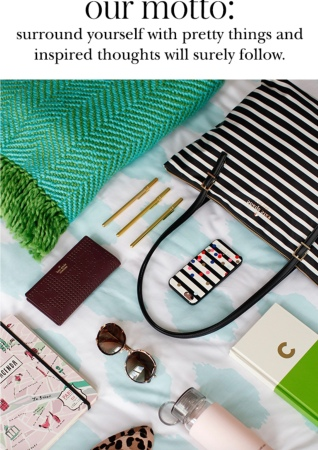 Luxury fashion accessories for back to school, Kate Spade advertisement for back to school
