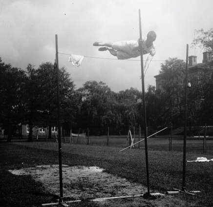 Man pole vaulting at US Naval Academy. 1890 (LOC/USPD.pub.date, no cr/Commons.wikimedia.org)