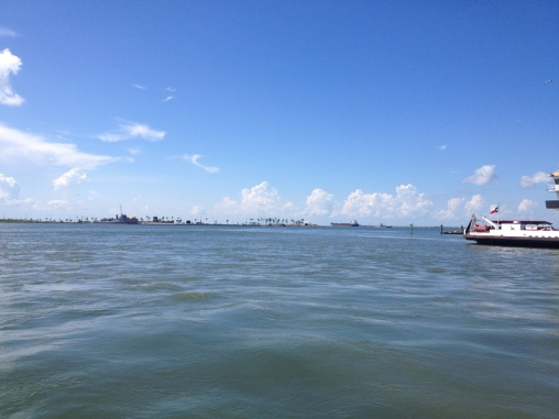 Galveston Island bay side. Sea Wolf Park viewed from ferry. (ALL rights reserved.© Copyrighted. NO permissions granted)