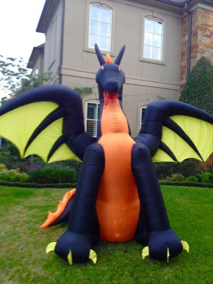 Dragon inflatable Halloween decoration. (Image ©. All rights reserved, copyrighted, no permissions granted)