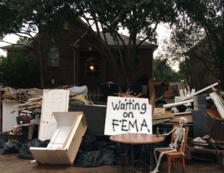 Early Halloween decoration after Hurricane HArvey (Tessie Rose Bailey/click2houston)