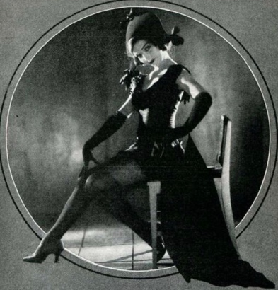 Woman posed in Halloween costume. Actress Marjorie Peterson, The Tattler, March 1922 (USPD. pub.date, artist life/Commons.wikimedia.org)