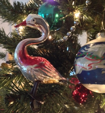 Vintage glass bird Christmas ornament missing tail. (Image: © All rights reserved, copyrighted, no permissions granted)