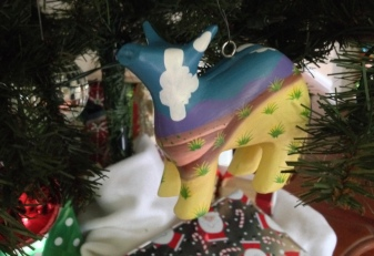 Cow Christmas ornament. (Image:© all rights reserved, no permissions granted, copyrighted)