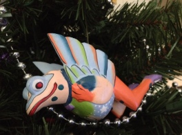 Flying frog Christmas ornament. (Image: © copyrighted, all rights reserved, NO permissions granted)