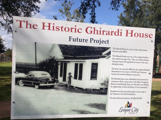 vintage farm house picture. Ghirardi house sign. (Image: all rights reserved. Copyrighted, no permissions granted)