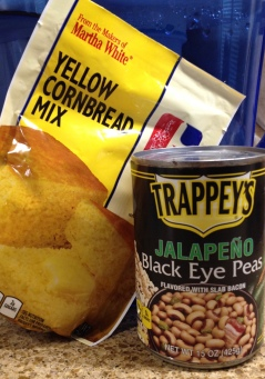 Food. cornbread and black eye peas. (Image:© NO permissions granted, all rights reserved. Copyrighted)