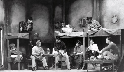 Men. Crew of boat in a stage play. 1937 (USPD. Pub.date, by WPA employee/fed gov., artist life/Commons.wikimedia.org