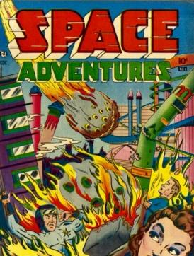 Comic book cover, Space Adventure #1 (Charlton pub.1952/USPD. pub.date, artist life/Commons.wikimedia.org)