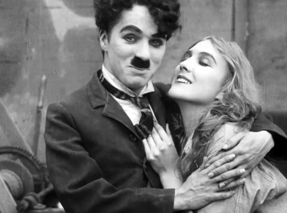 Man and woman. Charlie Chaplin. 1916 promo. (USPD.artist life, pub.date/Commons.wikimedia.org)