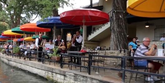 Eating along San Antonio's River Walk (Screenschot SA300 Canary Islands Special. KSAT promo.)