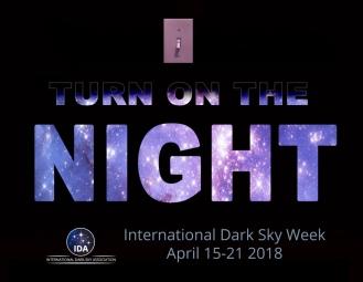 star sign for International Dark Sky Week (Screenschot.International Dark-Sky Week (Screenshot. IDA/darksky.org)