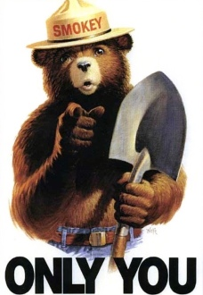 Smokey Bear poster. (USPD.dept of Ag./fed, employee/Commons.wikimedia.org)