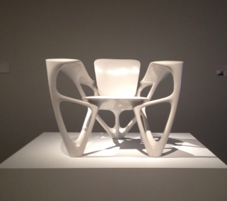 White chair from Bone series. Joris Laarman Lab/MFAH/ Image: all rights reserved, copyrighted, no permissions granted)