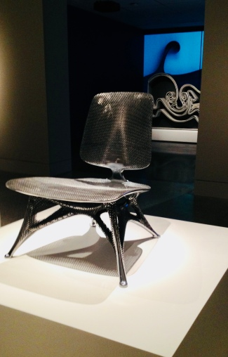 Aluminum Gradient Chair by Joris Laaerman Lab (MFAH exhibit / image: copyrighted, no permissions granted, all rights reserved)