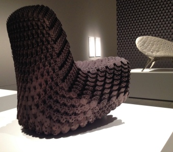 Soft chair printed by Joris Laarman Lab (MFAH exhibit/ Image copyrighted, all rights reserved, no permissions granted)