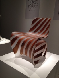 Walnut ribbon chair by Joris Laarman Lab ( Image, copyrighted, all righted reserved, no permissions granted)