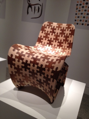 Puzzle chair printed out of wood! (MFAH Joris Laarman Lab exhibit. Image: all rights reserved. copyrighted, no permissions granted)