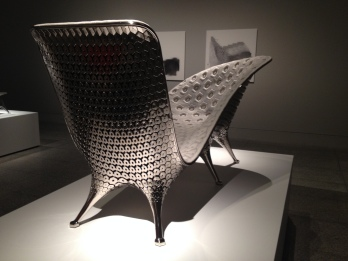 Back of Chaise lounge chair by Joris Laarman Lab/MFAH. (Image: all rights reserved, copyrighted, NO permissions granted)