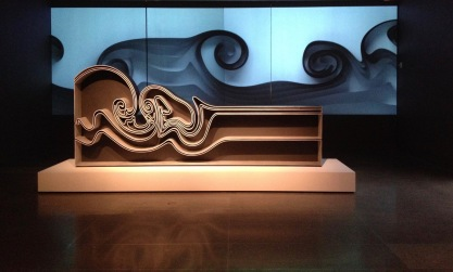 Vortex bookcase by Joris Laarman. MFAH exhibit (Image copyrighted, all rights reserved, no permissions granted)