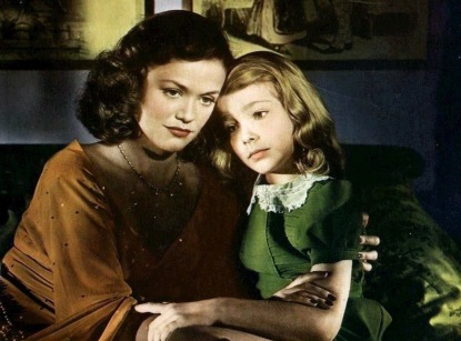 mother and daughter. Lobby card 1944 film Curse of the Cat People. (USPD.pub.date, artist life/Commons.wikimedia.org)