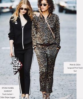 2 women in designer jogging suits (Cusp trend Look Book at Neiman Marcus.com)