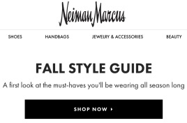 sign. Neiman Marcus Fall Style Guide (NM website)