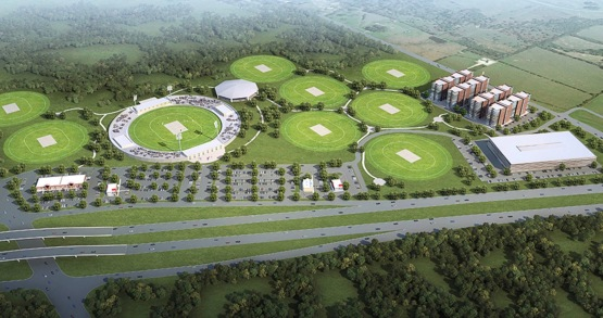 sports fields. Kalsoom Prairie View Cricket Complex (image by Tanweer Ahmed:Marketplace.org)