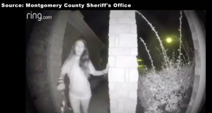 Strange woman walking up to doorbell. (RIng.com /ch13 abcnews))