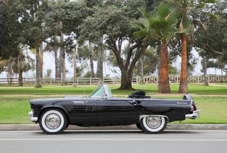 Marilyn Monroe's 1956 Roadster Thunderbird convertible. (Screenshot oann.com/Julien's Auction handout)