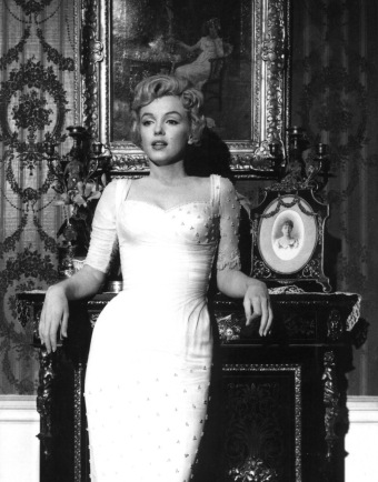 "Marilyn Monroe In Evening gown. 1957 in ""The Prince and the Showgirl"" promo shot. (USPD. pub.date, artist life/Commons.wikimedia.org)"