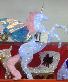 Christmas unicorn. (© Image: all rights reserved, copyrighted, no permissions granted)