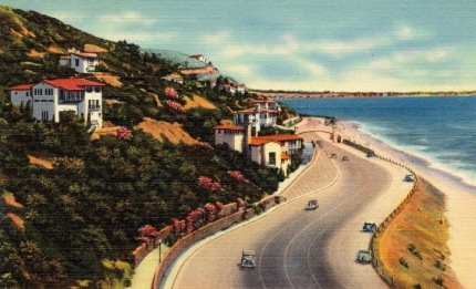 California Highway postcard. TIchnor Bros. 1930-1945/Boston pub.lib.(USPD.pub.date, artist life/Commons.wikimedia.org)