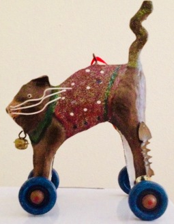 Cat Christmas ornament. (© image, copyrighted, all rights reserved, NO permissions granted